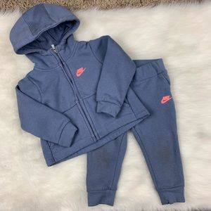 Toddler Nike 2 Piece Set Jacket & Sweats Size 18M